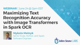Maximizing Text Recognition Accuracy with Image Transformers in Spark OCR