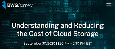 Understanding and Reducing the Cost of Cloud Storage (Sept. 30th)